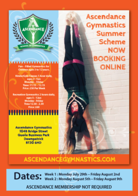Ascendance Gymnastics Summer Scheme Poster